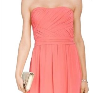 Ralph Lauren strapless Georgette gown